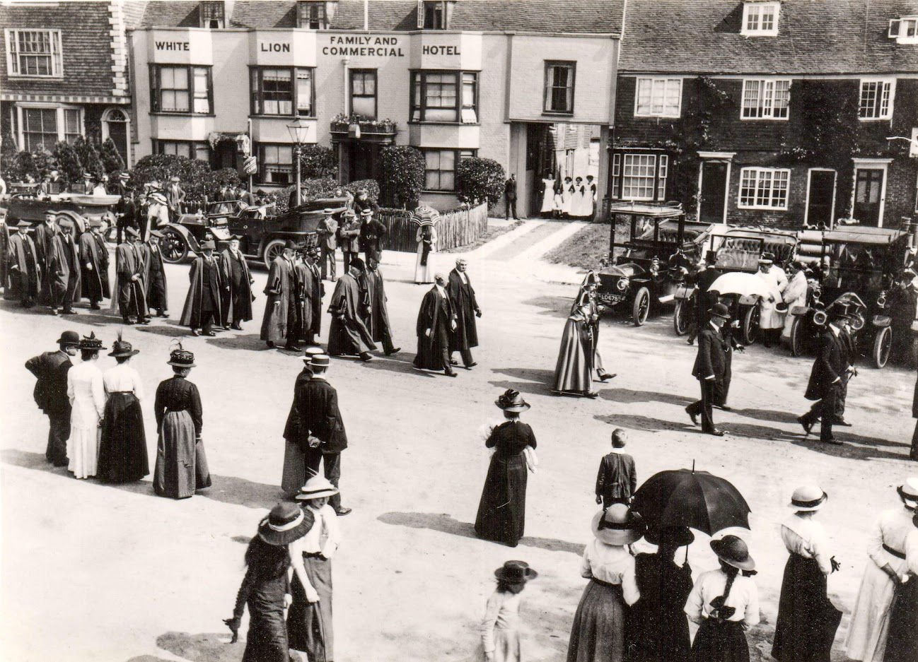 Funeral of Admiral Sir Charles Drury 22 May 1914 Tenterden