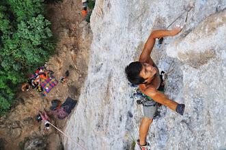 """Photo: Climbing """"Artemis (6b+ / 5.11a)"""" 這條路線也是我這輩子第一條on sight的5.11級以上路線 不過兩天後很快就打破啦"""