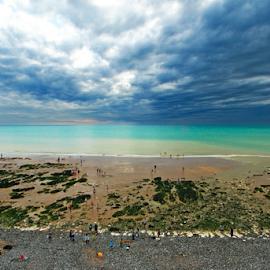 Cloudy Sea View by Steven De Siow - Landscapes Beaches ( cloudy, seascape, beach, sea view, sea )