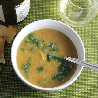 Spicy Lentil Soup with Swiss Chard.