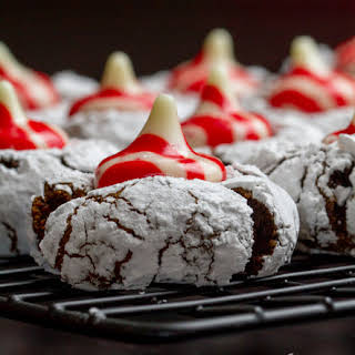 Peppermint Blossom Crinkle Cookies.