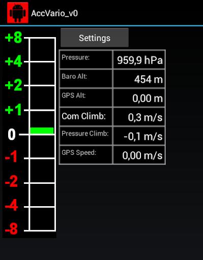 Acceleration aided Variometer 1.6 screenshots 1
