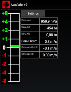 Acceleration aided Variometer screenshot