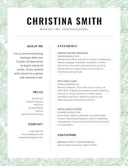 Christina J. Smith - Resume item