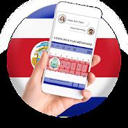 Costa Rica Flag Keyboard - Elegant Themes APK icon