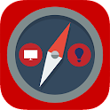 compass flashlight icon