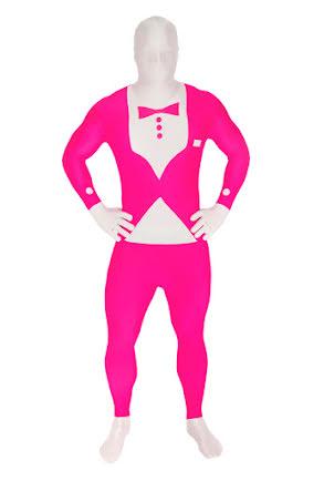Morphsuit, tuxedo neonrosa