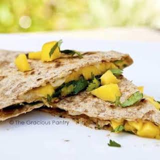 Clean Eating Mango and Cilantro Quesadillas.
