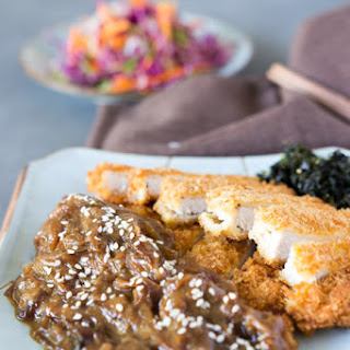 Tonkatsu with Caramelised Onion and Miso Sauce