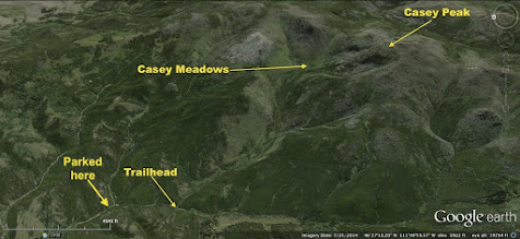 Photo: December 28 hike almost to Casey Peak with Rick