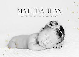 Tilda's Birth Announcement - Baby Card item