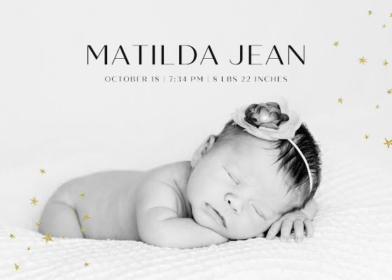Tilda's Birth Announcement - New Baby Announcement Template