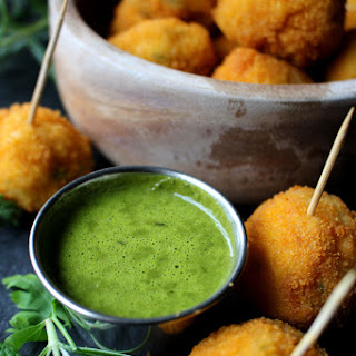 Breaded cod & potato croquettes, served in a green herb & Kerrygold butter sauce