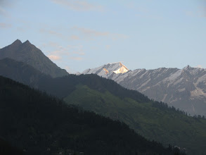 Photo: View from outside my room in Manali