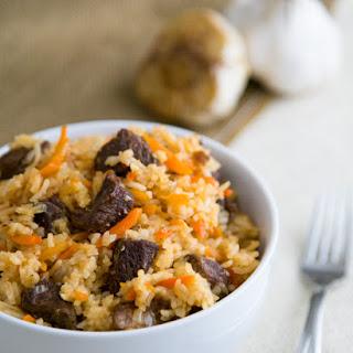Beef Plov (Beef Rice Pilaf).
