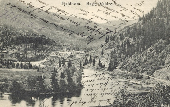 Photo: Fjeldheim, Bagn - 1905