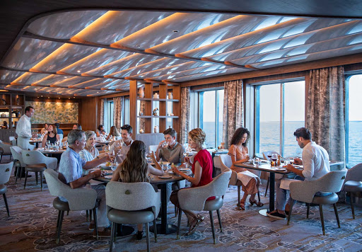 The Seaside Restaurant on Celebrity Flora sources the freshest local ingredients and uses the highest quality sustainable seafood available.