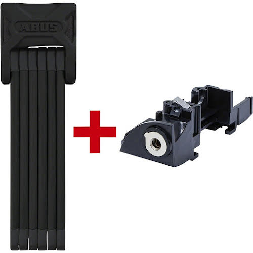 ABUS Bordo 6000 Keyed Folding Lock: 90cm Black Plus Bosch Battery Frame