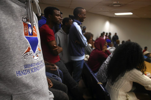 Students at Sefako Makgatho Health Sciences University were in a meeting over the alleged mismanagement of funds.