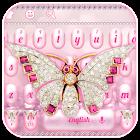 Pink Luxurious Diamond Butterfly Keyboard icon