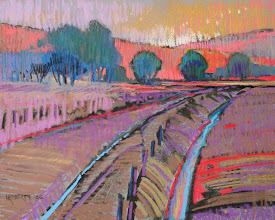 Photo: Sand Creek Revisited, pastel by Nancy Roberts, copyright 2014. Private collection.