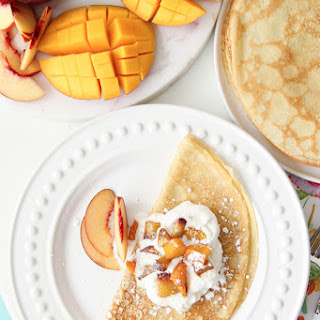 Mango Peach Crepes.