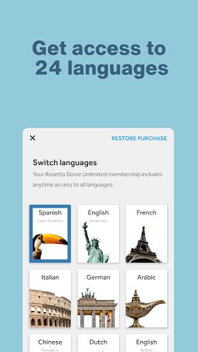Rosetta Stone: Learn and Speak New Languages screenshot 2