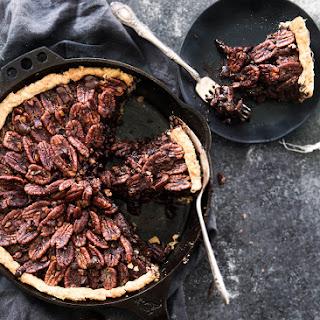 Deep Dish Double Chocolate Pecan Skillet Pie