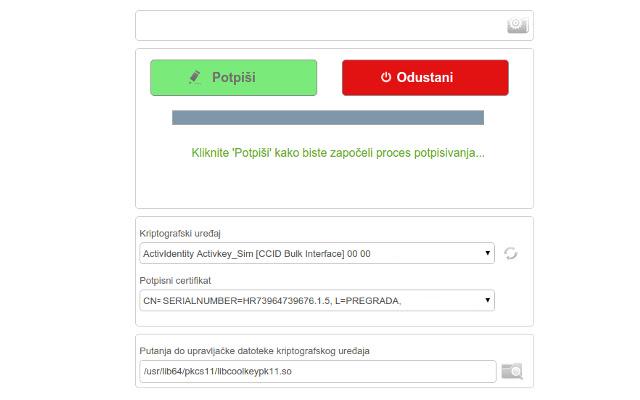 Jana - digital signature module