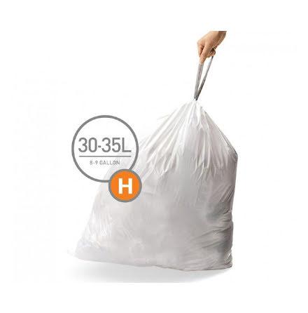 Avfallspåsar till Pedaltunna Typ H Simplehuman
