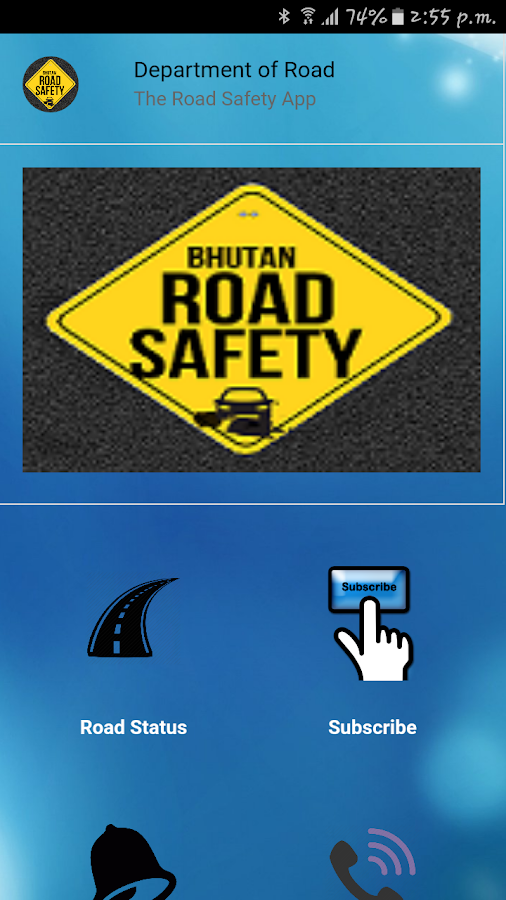 Bhutan Road Safety App- screenshot