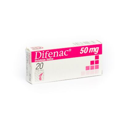 Diclofenac Sódico Difenac 50 Mg X 20 Comprimidos Dollder 50 mg x 20 Comprimidos