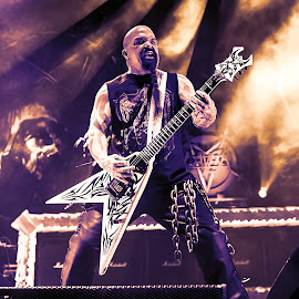 Kerry King, Slayer by Paweł Mielko - People Musicians & Entertainers ( metalmetal music, trash metal, slayer, legend, berad, metal, guitars, nikon, guitarsbe, music, stage, kerry king, guitarist,  )