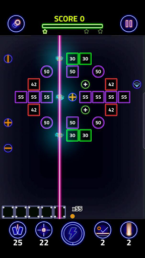 Brick Breaker Glow modavailable screenshots 1