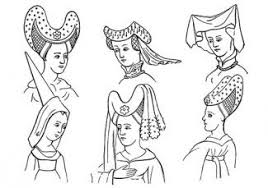 Image result for medieval women's headdress