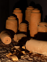 Photo: Clay jars like what was used to store the scrolls within the caves of Qumran.
