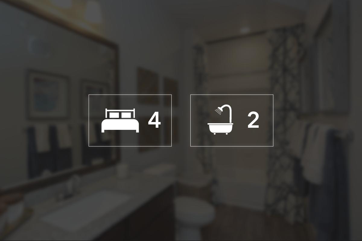 Four Bedroom Flat Floorplan 4 Bed 2 Bath Park Terrace Ii Apartments In Hartford