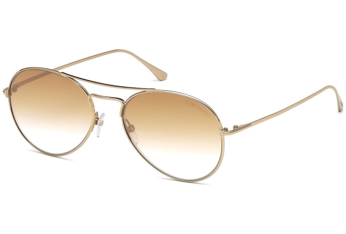 Acheter Lunettes de soleil Tom Ford Ace-02 FT0551 C55 28G (shiny rose gold    brown mirror)   opti.fashion 2dc4ea8ebd94