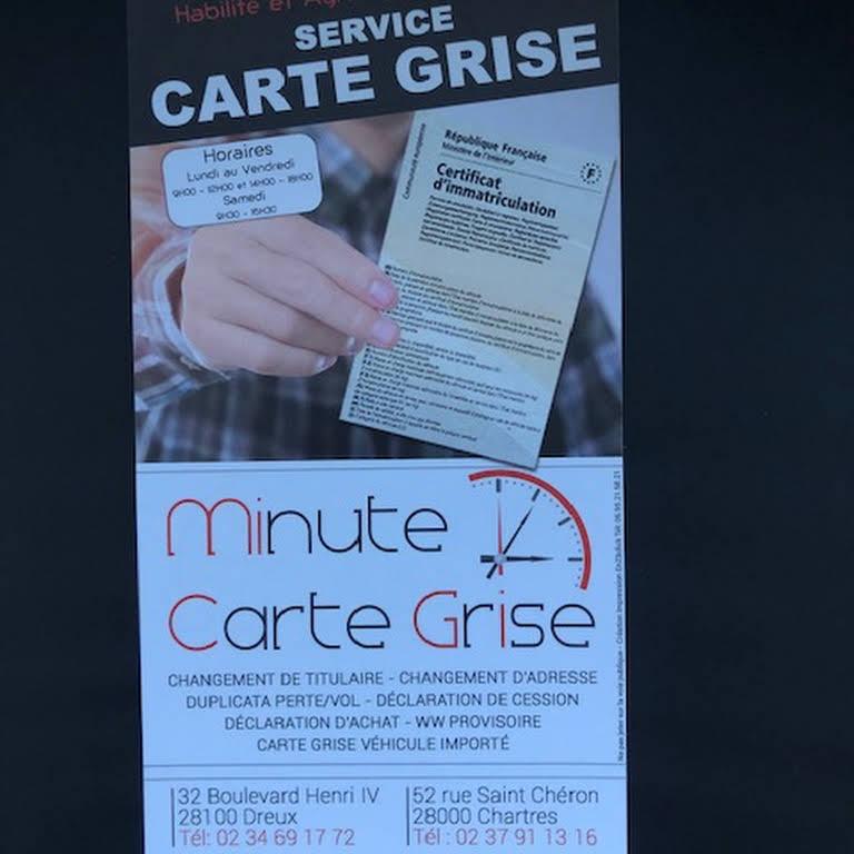 minute carte grise agence d
