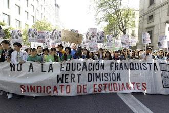 Photo: Cabecera manifestación Madrid