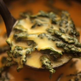 Roasted Garlic and Smoky Greens Soup