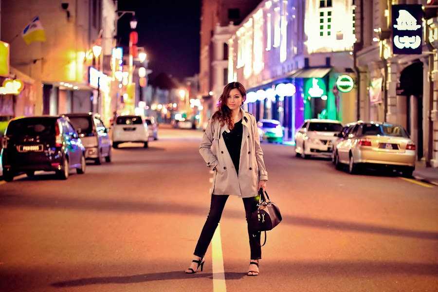 A Night Fashion shoot at Beach Street Penang by Lim Louis - People Fashion ( canon, pose, model, happy, girl. fashion, photographer, lady, fun, people,  )