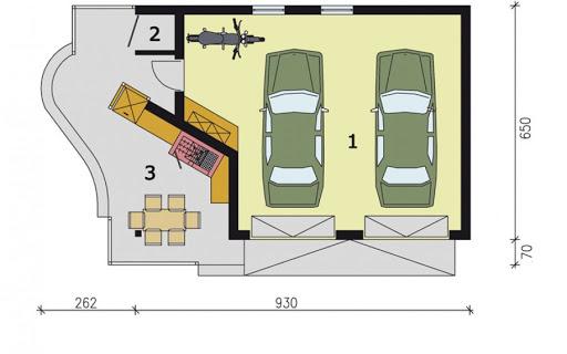 G186 - Rzut garażu