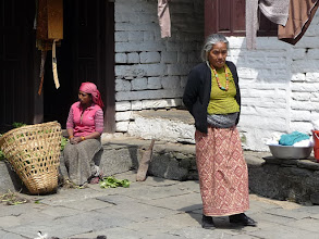 Photo: Old women in Birethanti
