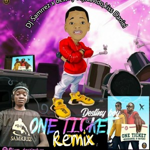 Cover Art for song (one ticket remix)