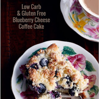Low Carb Blueberry Cheese Danish Coffee Cake