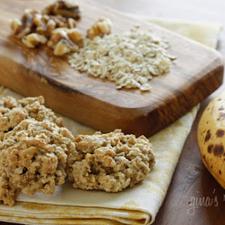 Chewy Low Fat Banana Nut Oatmeal Cookies.
