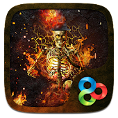 Fire Skull 3D Go Launcher Theme
