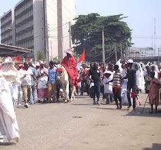 Photo: Eyo Akogu Olofin of Lagos on parade
