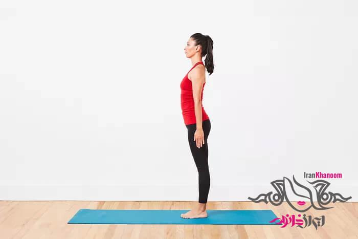 آموزش یوگا حالت کوه  تاداسانا  Tadasana